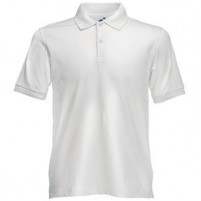 "Поло ""Slim Fit Polo"", белый_2XL, 97% х/б, 3% эластан, 210 г/м2"
